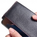 OnePlus 6T Leather Continental Sleeve Wallet (Red Stitching) handmade leather case by PDair