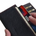 OnePlus 6 Leather Continental Sleeve Wallet (Red Stitching) protective carrying case by PDair