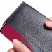 Samsung Galaxy S10 5G Leather Continental Sleeve Wallet (Red Stitching) handmade leather case by PDair