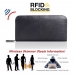 Leather RFID Blocking Zip Around Wallet Smartphone Case (Black Stitching) protective carrying case by PDair