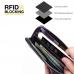 Leather RFID Blocking Zip Around Wallet Smartphone Case (Red Stitch) genuine leather case by PDair