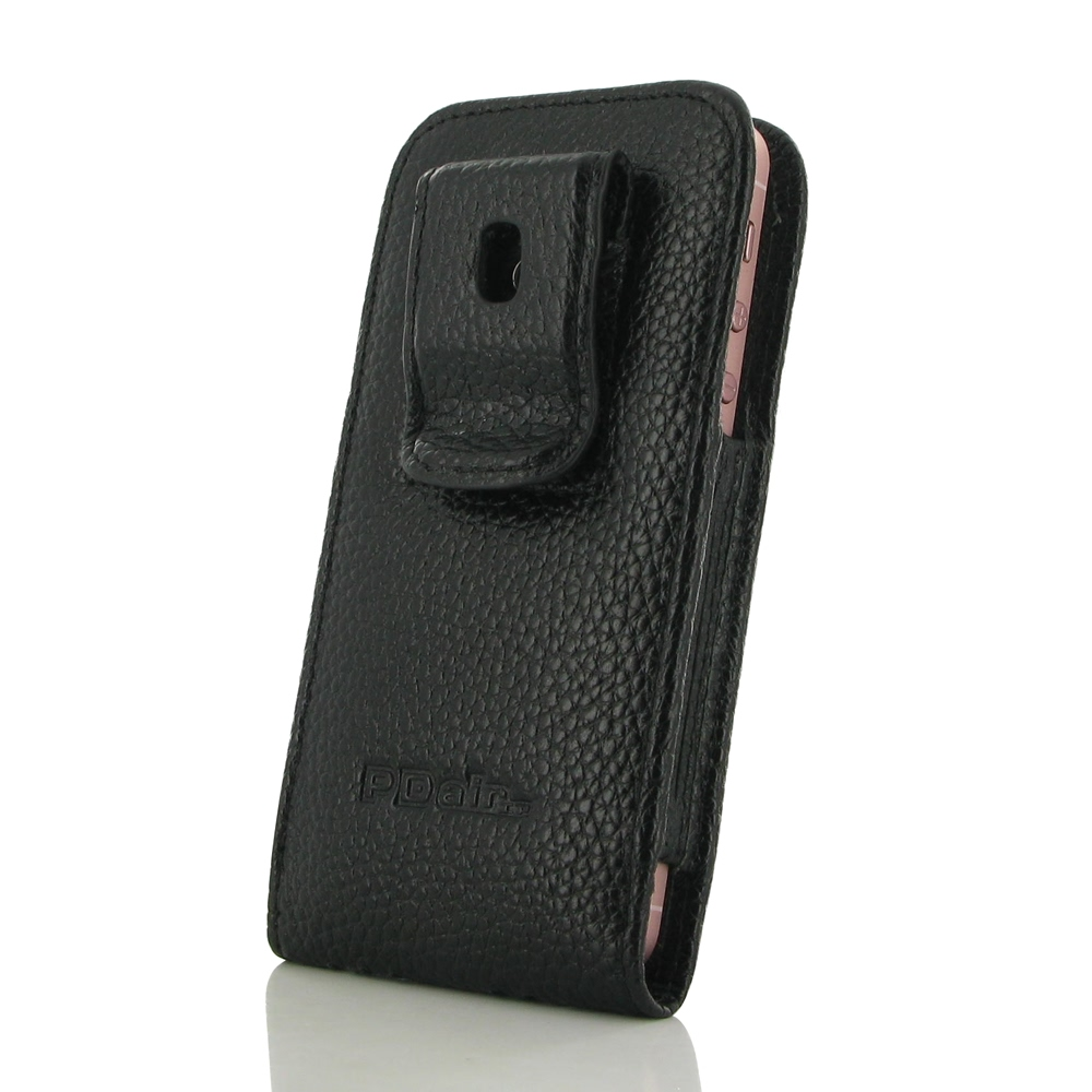 Iphone 5 5s pouch case with belt clip black stitching pdair wallet - Iphone 5s leather case ...