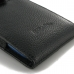 iPhone 7 (in Slim Cover) Pouch Clip Case (Black Stitching) top quality leather case by PDair