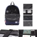 Casual Canvas Laptop Bag / Shoulder Backpack / School Backpack FC7033 handmade leather case by PDair