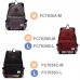 Casual Canvas Laptop Bag / Shoulder Backpack / School Backpack FC7035 genuine leather case by PDair