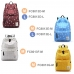 Casual Canvas Laptop Bag / Shoulder Backpack / School Backpack FC8013 top quality leather case by PDair
