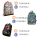 Casual Canvas Laptop Bag / Shoulder Backpack / School Backpack FC9018 genuine leather case by PDair