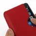 iPhone 7 Leather Wallet Sleeve Case (Red Pebble Leather) genuine leather case by PDair