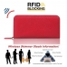 Leather RFID Blocking Zip Around Wallet Smartphone Case (Red Pebble Leather) protective carrying case by PDair