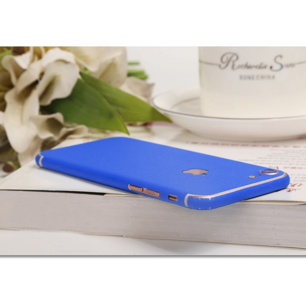 10% OFF + FREE SHIPPING, Buy Best PDair Top Quality Frosted Sparkle iPhone Decal Wrap Skin Set (Blue) which is available for iPhone 7, iPhone 7 plus. You also can go to the customizer to create your own stylish leather case if looking for additional color