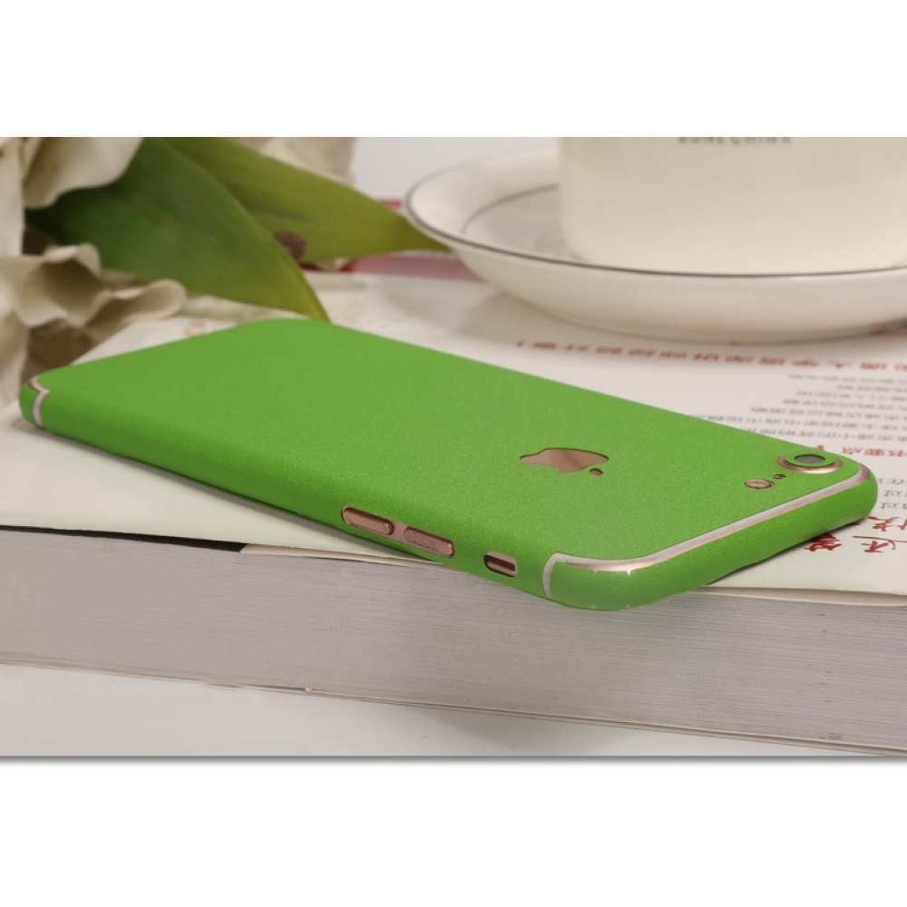 10% OFF + FREE SHIPPING, Buy Best PDair Top Quality Frosted Sparkle iPhone Decal Wrap Skin Set (Green) which is available for iPhone 7, iPhone 7 plus. You also can go to the customizer to create your own stylish leather case if looking for additional colo