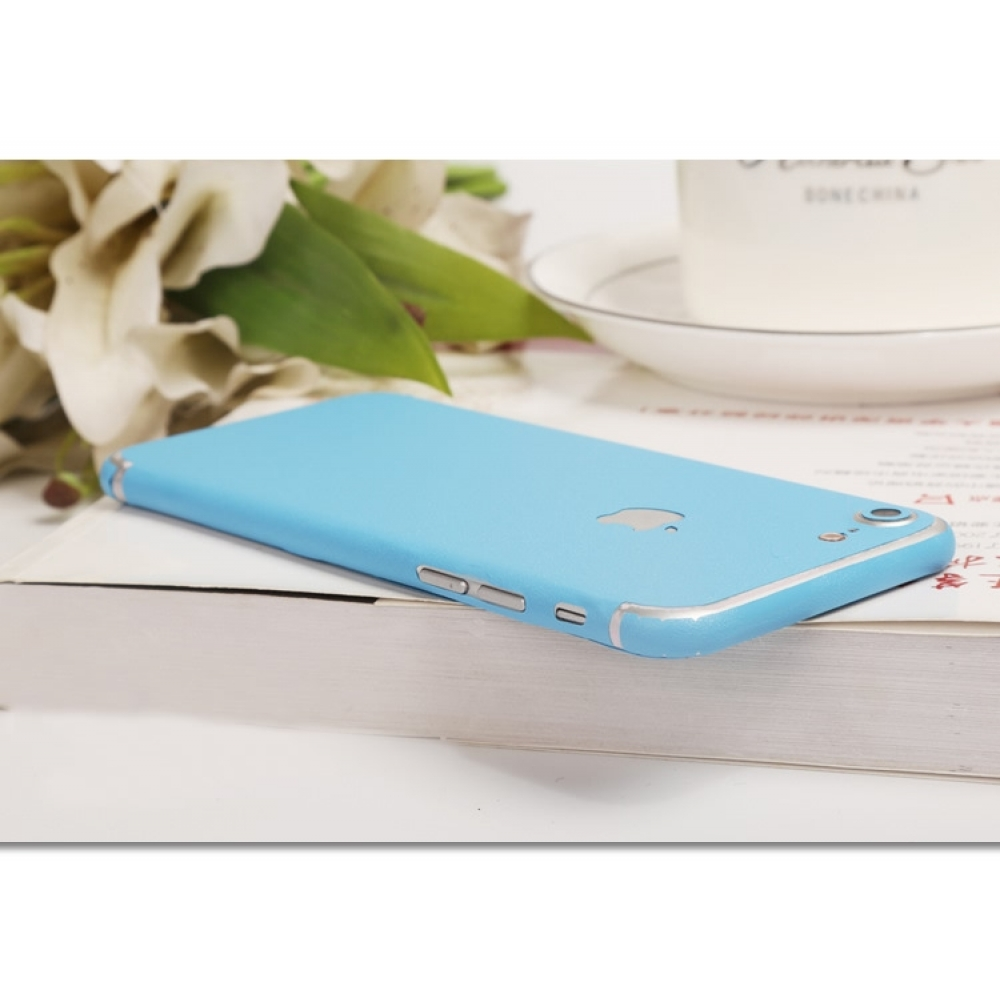10% OFF + FREE SHIPPING, Buy Best PDair Top Quality Frosted Sparkle iPhone Decal Wrap Skin Set (Light Blue) which is available for iPhone 7, iPhone 7 plus. You also can go to the customizer to create your own stylish leather case if looking for additional