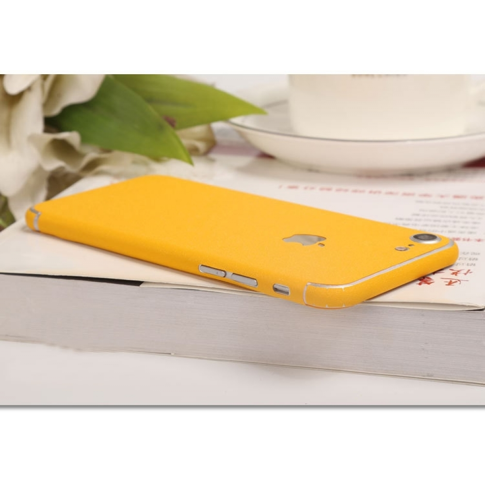 10% OFF + FREE SHIPPING, Buy Best PDair Top Quality Frosted Sparkle iPhone Decal Wrap Skin Set (Yellow) which is available for iPhone 7, iPhone 7 plus. You also can go to the customizer to create your own stylish leather case if looking for additional col