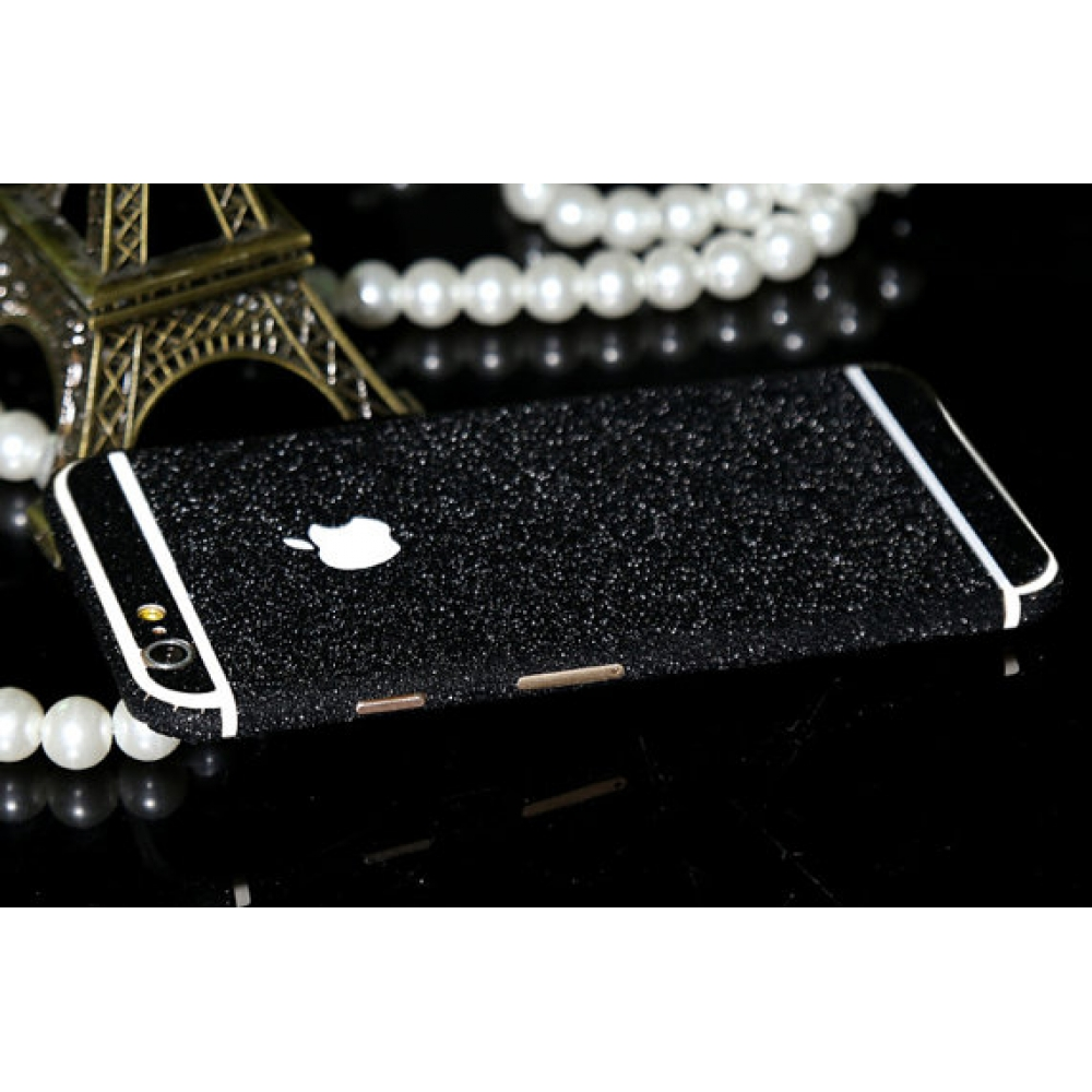 10% OFF + FREE SHIPPING, Buy PDair Frosted Sparkle iPhone Decal Wrap Skin Set (Black) which is available for iPhone 6 | iPhone 6s, iPhone 6 Plus | iPhone 6s Plus, iPhone 5 | iPhone 5s SE. You also can go to the customizer to create your own stylish leathe