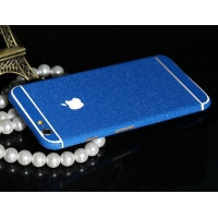 Frosted Sparkle iPhone 6s 6 Plus Decal Wrap Skin Set (Blue Navy)