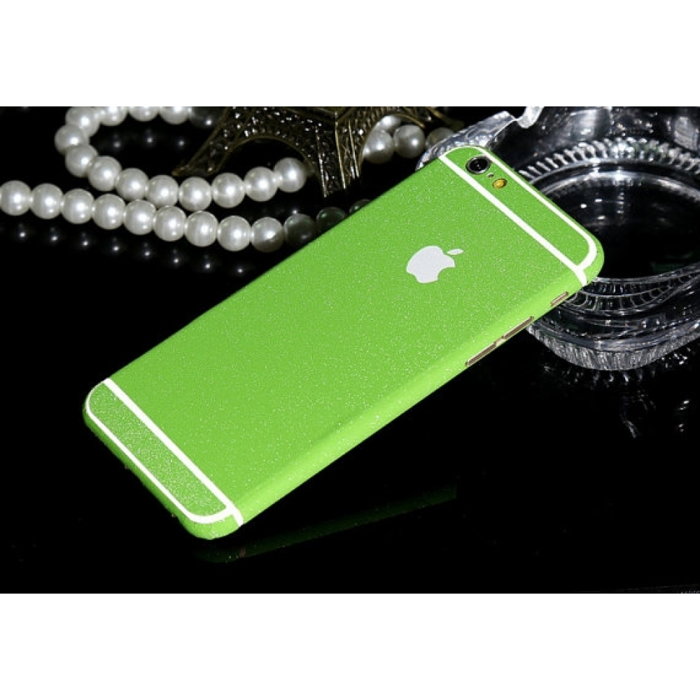 10% OFF + FREE SHIPPING, Buy PDair Frosted Sparkle iPhone Decal Wrap Skin Set (Green) which is available for iPhone 6 | iPhone 6s, iPhone 6 Plus | iPhone 6s Plus, iPhone 5 | iPhone 5s SE. You also can go to the customizer to create your own stylish leathe