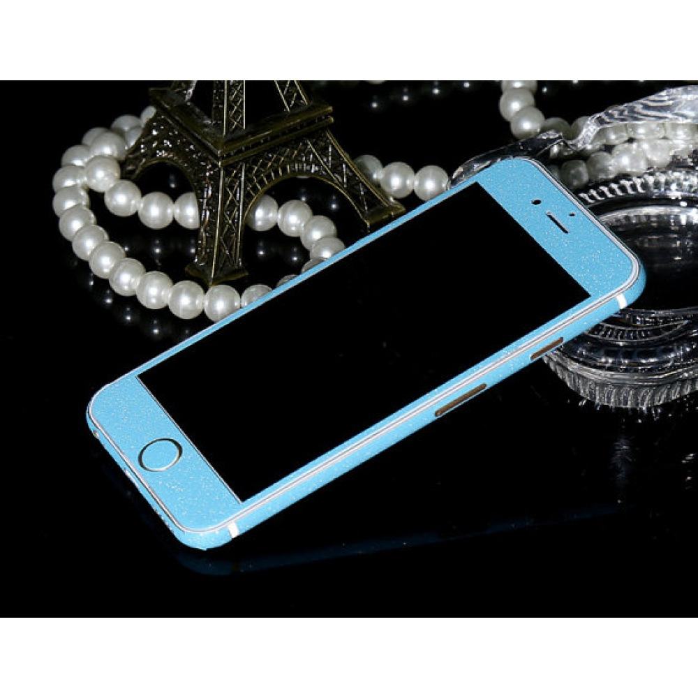 10% OFF + FREE SHIPPING, Buy PDair Frosted Sparkle iPhone Decal Wrap Skin Set (Light Blue) which is available for iPhone 6 | iPhone 6s, iPhone 6 Plus | iPhone 6s Plus, iPhone 5 | iPhone 5s SE. You also can go to the customizer to create your own stylish l