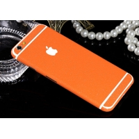 10% OFF + FREE SHIPPING, Buy PDair Frosted Sparkle iPhone Decal Wrap Skin Set (Orange) which is available for iPhone 6 | iPhone 6s, iPhone 6 Plus | iPhone 6s Plus, iPhone 5 | iPhone 5s SE. You also can go to the customizer to create your own stylish leath