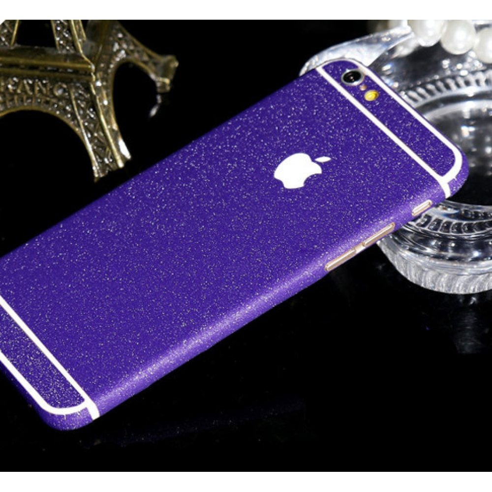 10% OFF + FREE SHIPPING, Buy PDair Frosted Sparkle iPhone Decal Wrap Skin Set Purple Violet which is available for iPhone 6 | iPhone 6s, iPhone 6 Plus | iPhone 6s Plus, iPhone 5 | iPhone 5s SE You also can go to the customizer to create your own stylish l