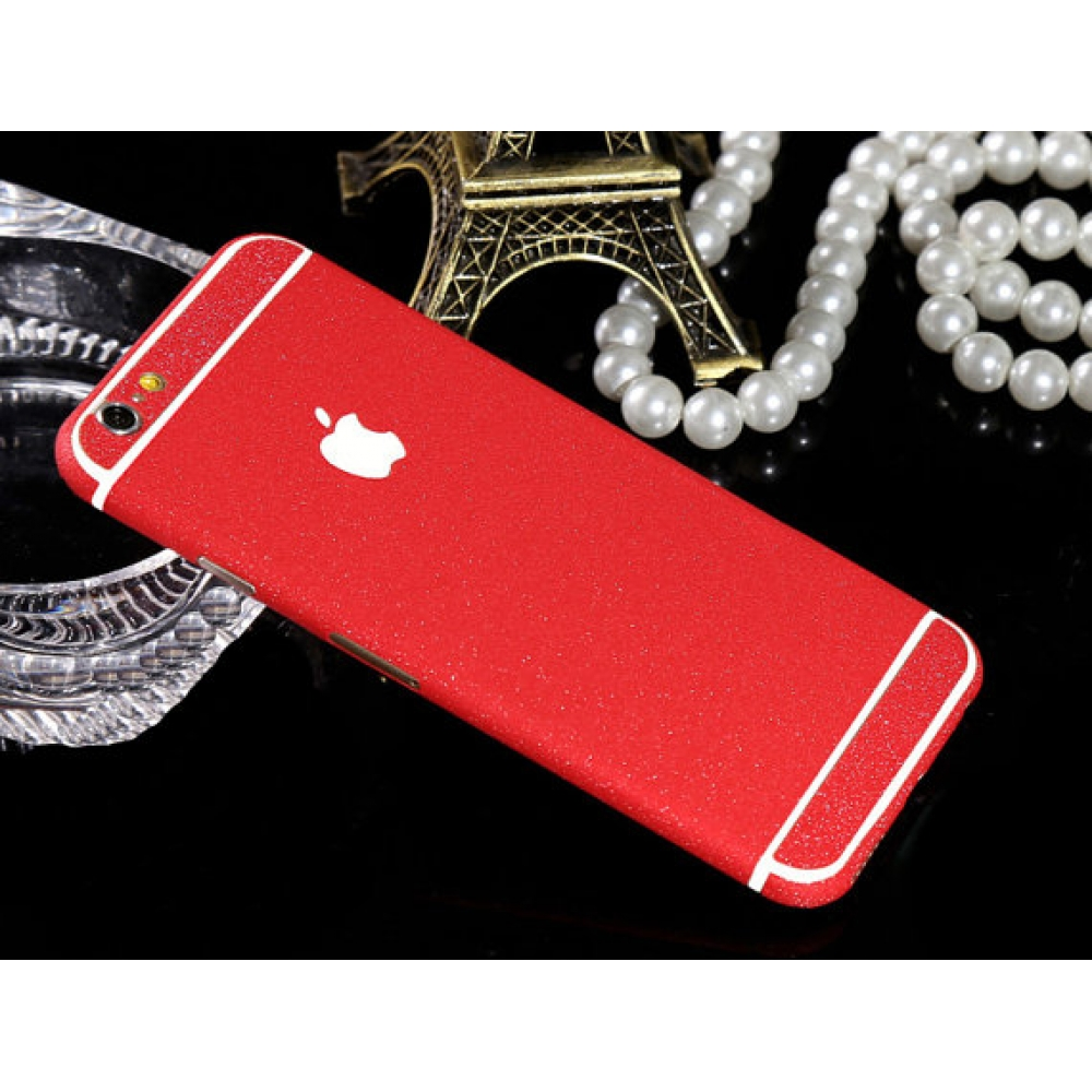 10% OFF + FREE SHIPPING, Buy Best PDair Frosted Sparkle iPhone Decal Wrap Skin Set Red which is available for iPhone 6 | iPhone 6s, iPhone 6 Plus | iPhone 6s Plus, iPhone 5 | iPhone 5s SE. You also can go to the customizer to create your own stylish leath