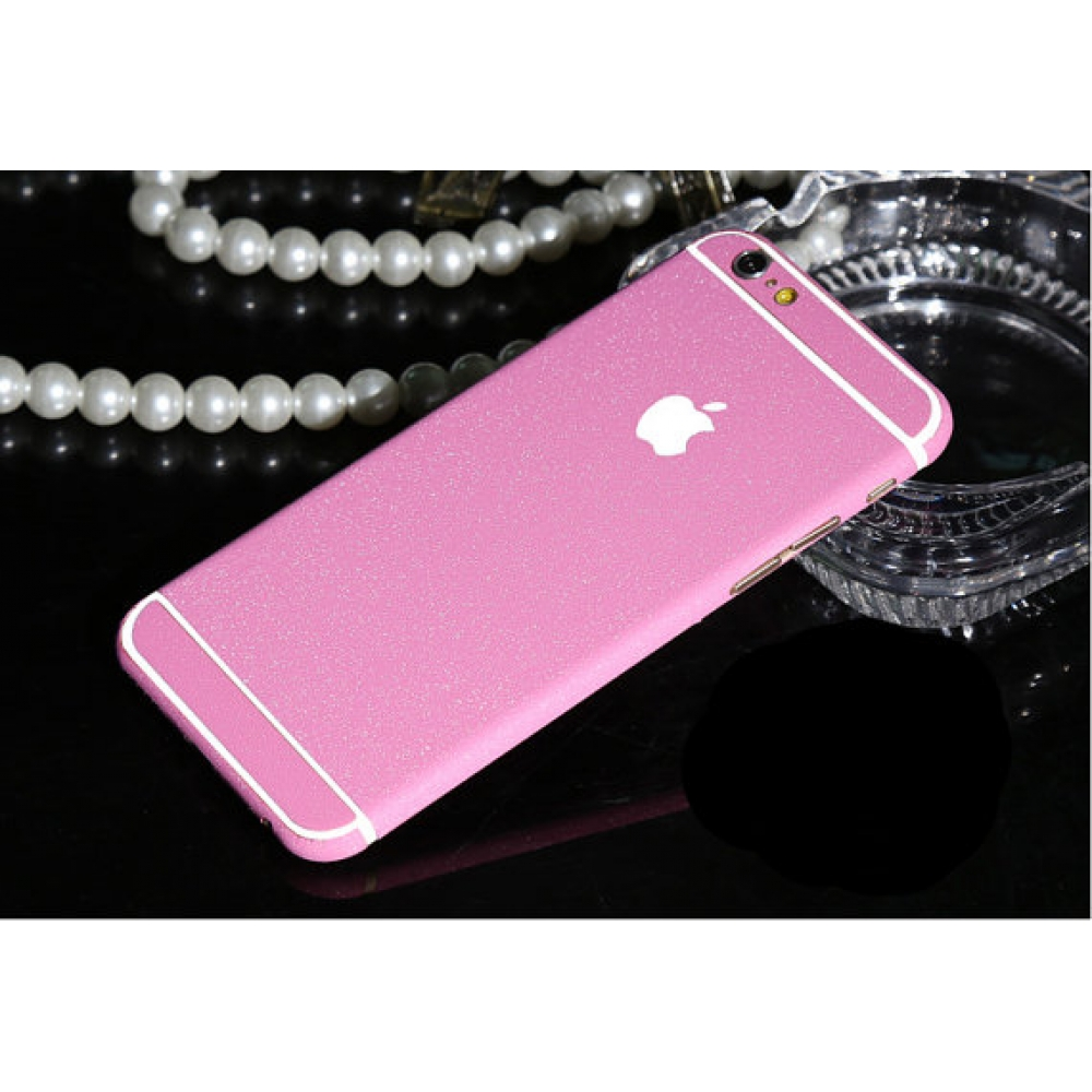 10% OFF + FREE SHIPPING, Buy PDair Frosted Sparkle iPhone Decal Wrap Skin Set (Rose Pink) which is available for iPhone 6 | iPhone 6s, iPhone 6 Plus | iPhone 6s Plus, iPhone 5 | iPhone 5s SE. You also can go to the customizer to create your own stylish le