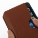 iPhone 8 Leather Wallet Sleeve Case (Brown Pebble Leather) genuine leather case by PDair