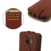 HTC 10 Leather Flip Top Case (Brown Pebble Leather) top quality leather case by PDair