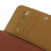 iPhone 7 Leather Wallet Case (Brown Pebble Leather) genuine leather case by PDair