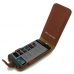 Moto X Style / Pure Edition Flip Wallet Case (Brown Pebble Leather) genuine leather case by PDair