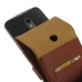 Moto X Style / Pure Edition Flip Wallet Case (Brown Pebble Leather) custom degsined carrying case by PDair
