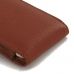 iPhone 7 Leather Sleeve Pouch Case (Brown Pebble Leather) :: PDair top quality leather case by PDair
