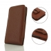 Samsung Galaxy S8 Leather Sleeve Pouch Case (Brown Pebble Leather) protective carrying case by PDair