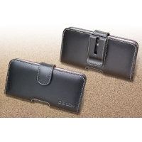 Leather Horizontal Pouch Case with Belt Clip for Fujitsu arrows NX F-01J