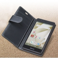 Fujitsu arrows SV Leather Flip Wallet Carry Cover PDair Premium Hadmade Genuine Leather Protective Case Sleeve Wallet