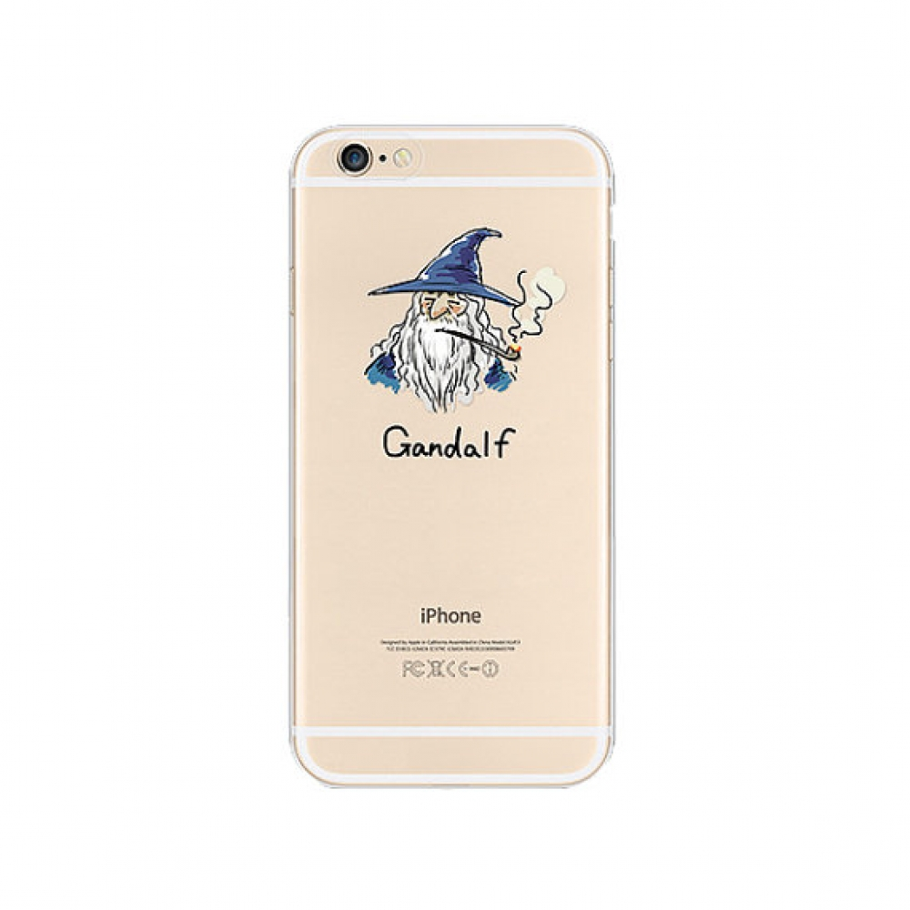 10% OFF + FREE SHIPPING, Buy Best PDair iPhone Pattern Printed Soft Clear Case Gandalf which is available for iPhone 6 | iPhone 6s, iPhone 6 Plus | iPhone 6s Plus, iPhone 5 | iPhone 5s SE. You also can go to the customizer to create your own stylish leath