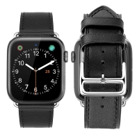 Apple Watch Series 5 | Series 4 40mm Premium Genuine Leather Strap Watch Bands (Black) is designed to wear fashionable look to your device. It can personalize your iWatch with this refined strap compared to Apple ones, but more attractive cost. Premium so