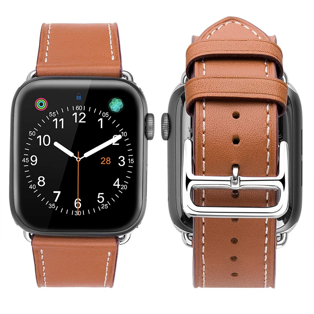 iWatch Series 5 | iWatch Series 4 40mm Premium Genuine Leather Strap Watch Bands (Brown) is designed to wear fashionable look to your device. It can personalize your iWatch with this refined strap compared to Apple ones, but more attractive cost. Premium