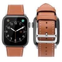 Genuine Leather Strap Watch Bands for Apple Watch Series 4 44mm (Brown)