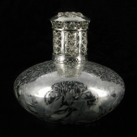 Fragrance Effusion Lamp Large Oil Diffuser Glittery Silver Fragments