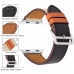 Genuine Leather Strap Watch Bands for Apple Watch Series 3 38mm (Black)