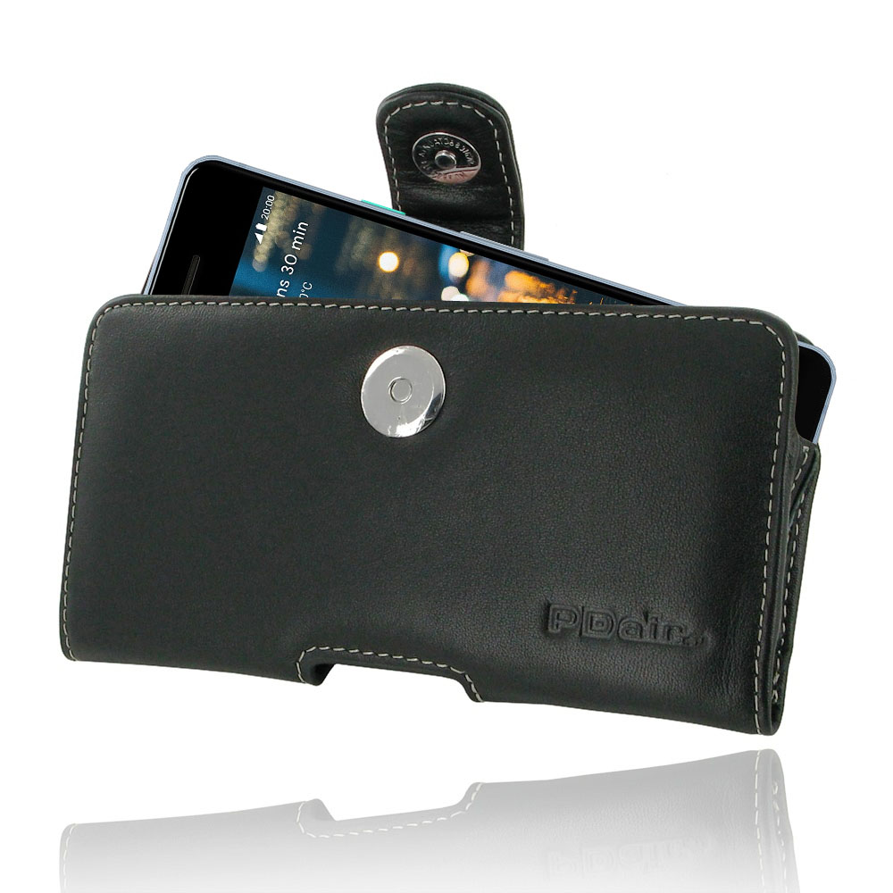 new product 56076 45973 Leather Horizontal Pouch Case with Belt Clip for Google Pixel 2