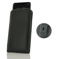Leather Vertical Pouch Belt Clip Case for Google Pixel 3 XL