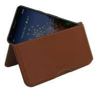 Leather Wallet Pouch for Google Pixel 3a (Brown)