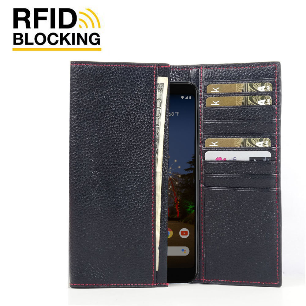 10% OFF + FREE SHIPPING, Buy the BEST PDair Handcrafted Premium Protective Carrying Google Pixel 3a XL Leather Continental Sleeve Wallet (Red Stitching). Exquisitely designed engineered for Google Pixel 3a XL.