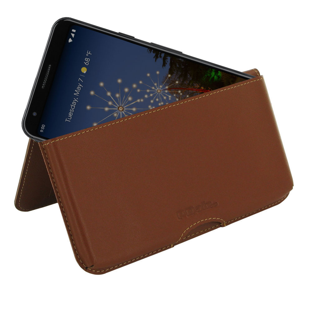 10% OFF + FREE SHIPPING, Buy the BEST PDair Handcrafted Premium Protective Carrying Google Pixel 3a XL Leather Wallet Pouch Case (Brown). Exquisitely designed engineered for Google Pixel 3a XL.