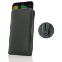 Leather Vertical Pouch Belt Clip Case for Google Pixel 4