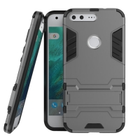 Google Pixel XL Tough Armor Protective Case (Grey) :: PDair