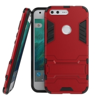 Google Pixel XL Tough Armor Protective Case (Red) :: PDair