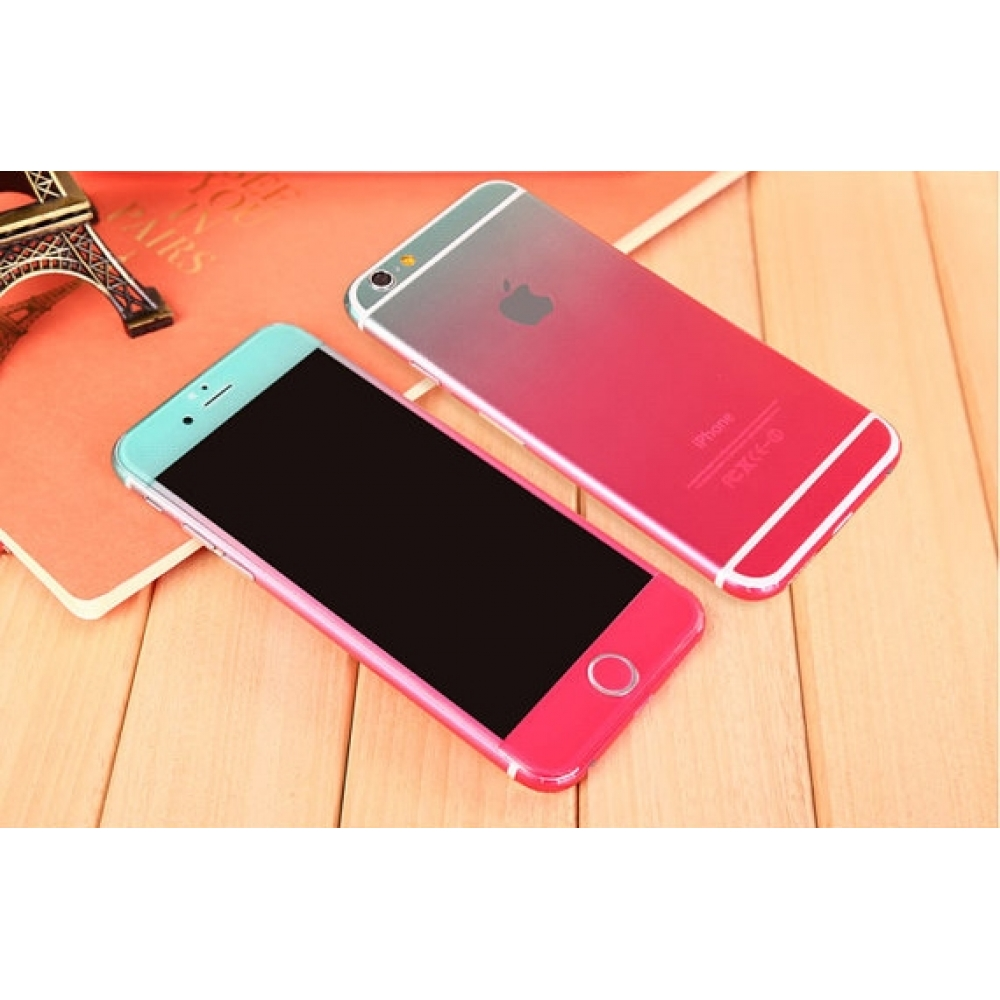 10% OFF + FREE SHIPPING, Buy PDair Gradient iPhone Decal Wrap Skin Set (Pink to Aqua) which is available for iPhone 6 | iPhone 6s, iPhone 6 Plus | iPhone 6s Plus, iPhone 5 | iPhone 5s SE. You also can go to the customizer to create your own stylish leathe