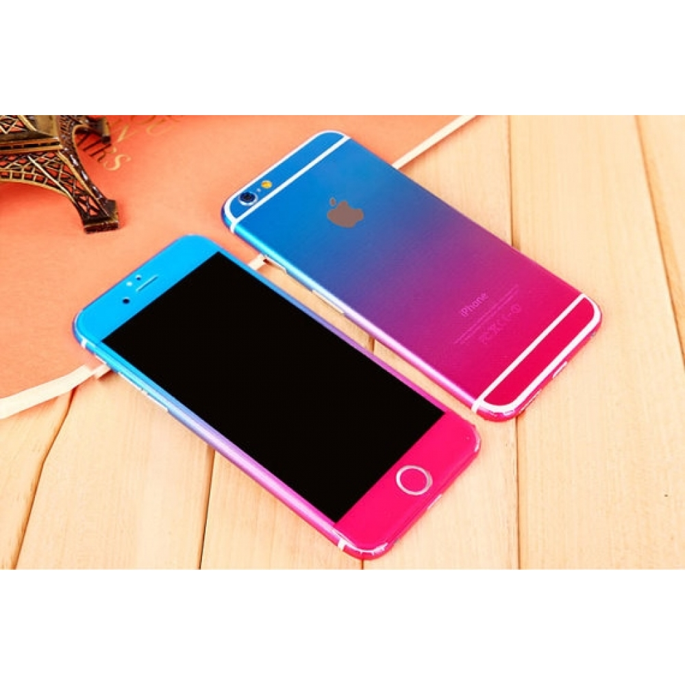 10% OFF + FREE SHIPPING, Buy PDair Gradient iPhone Decal Wrap Skin Set (Pink to Blue) which is available for iPhone 6   iPhone 6s, iPhone 6 Plus   iPhone 6s Plus, iPhone 5   iPhone 5s SE. You also can go to the customizer to create your own stylish leathe
